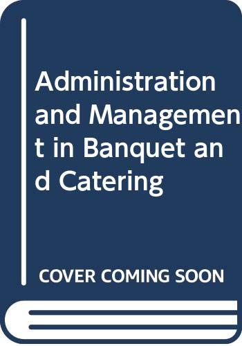 9789351117162: Administration and Management in Banquet and Catering