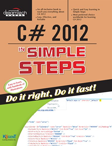 C# 2012 In Simple Steps: Kogent Learning Solutions