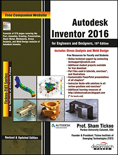 9789351199212: Autodesk Inventor 2016 For Engineers And Designers, 16 Ed