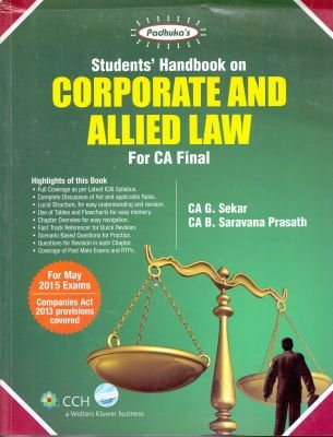 9789351293637: Student's handbook On Corporate And Allied Law For CA Final
