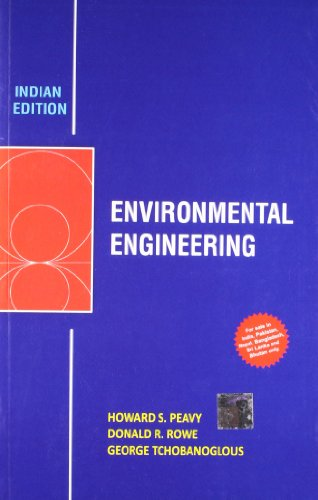 9789351340263: FAST SHIP - PEAVY TCHOBANOGLOUS 1e Environmental Engineering Y11