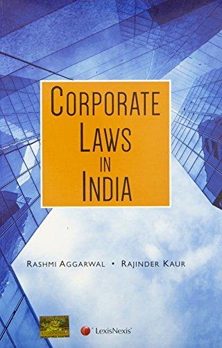 Corporate Laws in India: Rashmi Aggarwal and