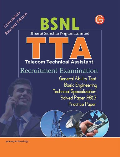 9789351441809: Study Guide TTA (BSNL) Recruitment Exam (Icludes Practice Paper & Solved Paper 2013) (Old Edition)