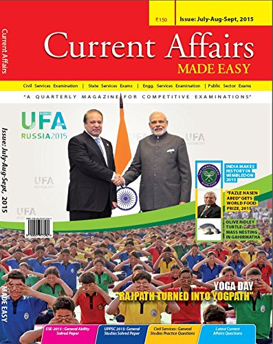 Current Affairs Quarterly issue (July- September 2015): MADE EASY Team