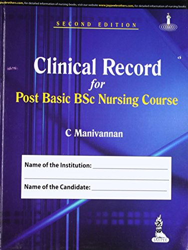 Clinical Record for Post Basic BSc Nursing: C. Manivannan