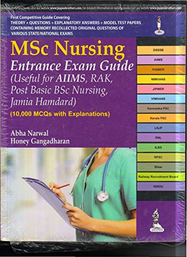 MSc Nursing Entrance Exam Guide: Abha Narwal,Honey Gangadharan