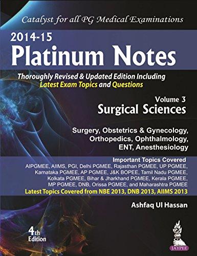 9789351523284: Platinum Notes: Surgical Sciences - AbeBooks