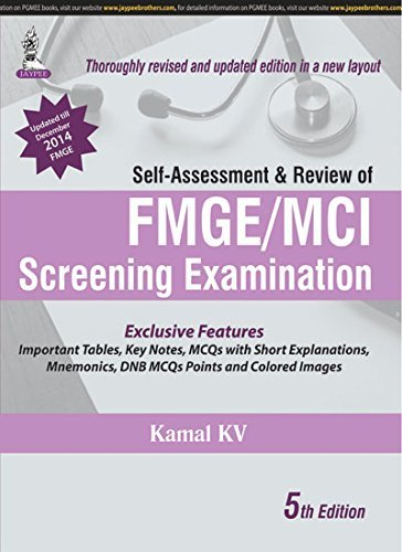 Self-Assessment and Review of FMGE/MCI Screening Examination (Fifth Edition): Kamal KV