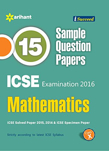 9789351766599: Icse 15 Sample Question Papers Mathematics Class 10Th