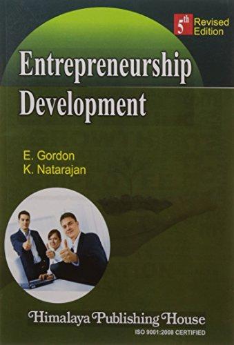 Entrepreneurship Development: Gordon & Natarajan