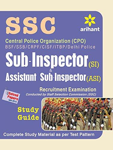 9789352031573: Central Police Organization (Cpo) Bsf/Ssb/Crpf/Cisf/Itbpf/Delhi Police Sub-Inspector & Assistant Sub-Inspector (Cisf) Recruitment Examination Study Guide