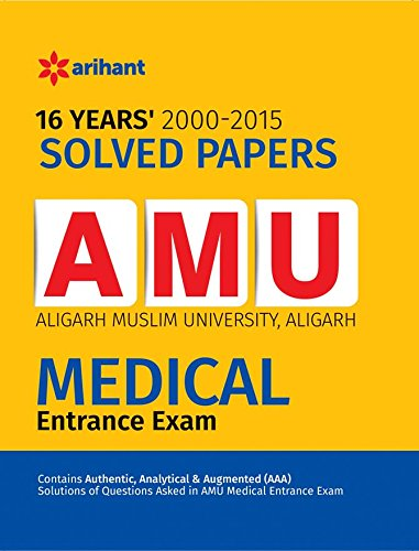 9789352511082: 16 Years' Solved Papers AMU Medical Entrance Exam