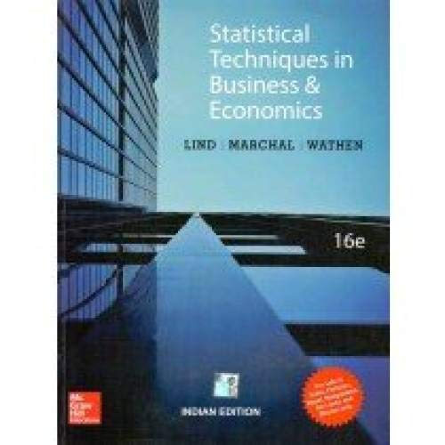 9789352605545: Statistical Techniques in Business and Economics (16th Ed) [INTERNATIONAL PAPERBACK]