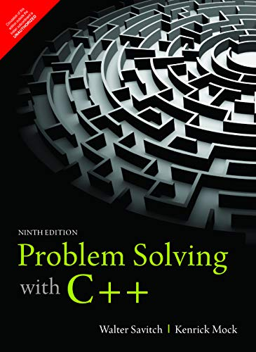 9789352863082: Problem Solving With C++ , 9Th Edition