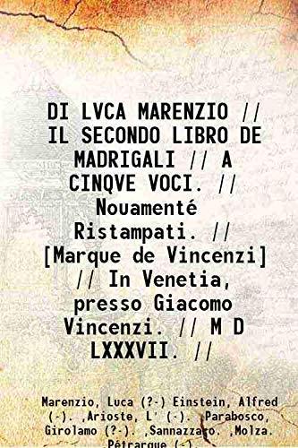 DI LVCA MARENZIO // IL SECONDO LIBRO: Marenzio, Luca (?-)