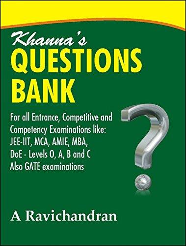 Khanna?s Question Bank: A Ravichandran