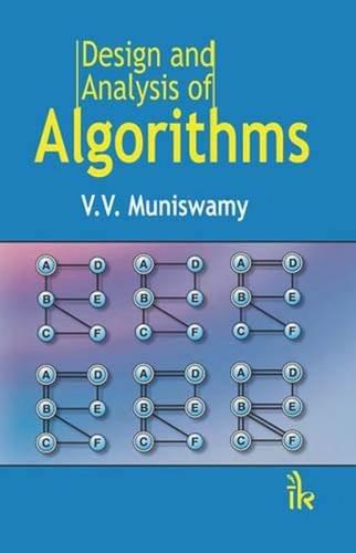 Design and Analysis of Algorithms: V.V. Muniswamy
