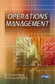 Operations Management: Dr. Pratibha Garg
