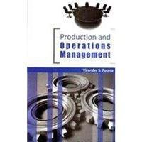 Production and Operation Management: Poonia Virender S.