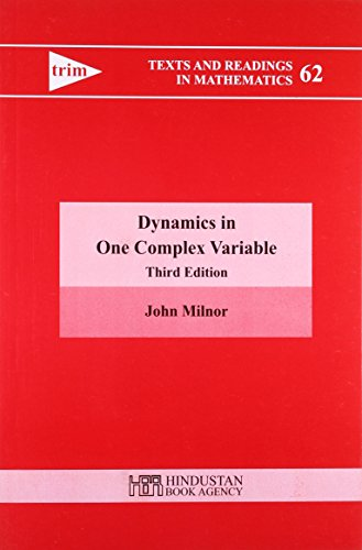 9789380250342: DYNAMICS IN ONE COMPLEX VARIABLE, 3RD EDITION (TEXTS AND READINGS IN MATHEMATICS/62)