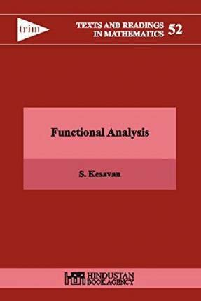 9789380250625: Functional Analysis (Texts and Readings in Mathematics)