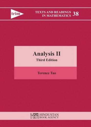 9789380250656: Analysis II: Third Edition (Texts and Readings in Mathematics)