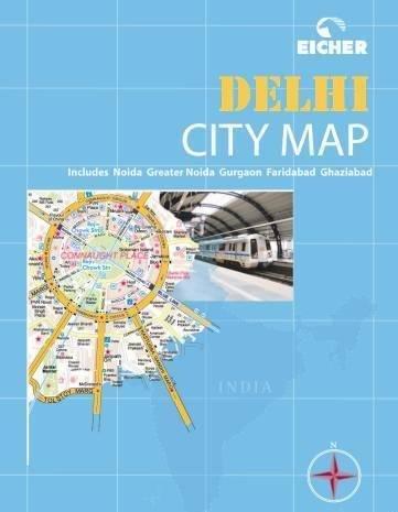 9789380262215: Eicher City Map: Delhi