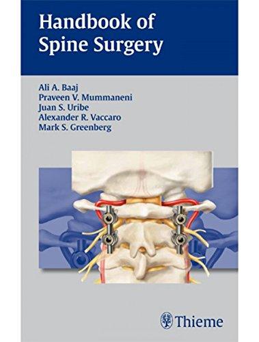9789380378886: Handbook Of Spine Surgery