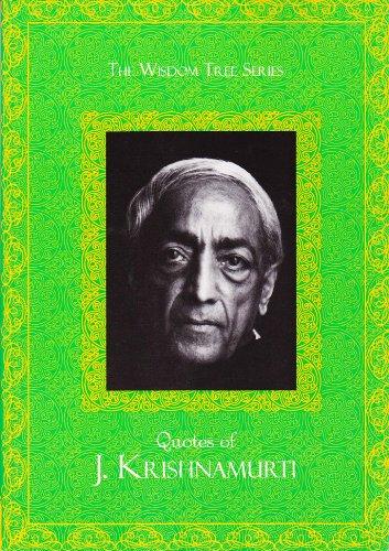 9789380480794: Wisdom Tree Series: Quotes Of J Krishnamurthy