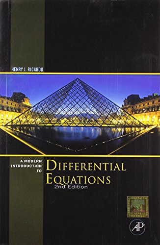 9789380501765: A Modern Introduction to Differential Equations