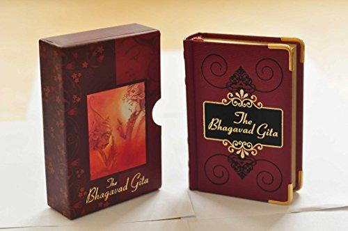 9789380541099: The Bhagavad Gita English+sanskrit+sansckrit Transcription (Box Pocket Edition) Hardback, Metal Ankles, Golden Evaporation of the Sides
