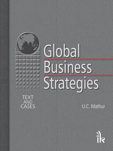 9789380578651: Global Business Strategies: Text and Cases