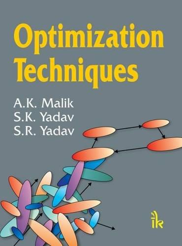 Optimization Techniques: A K Malik,