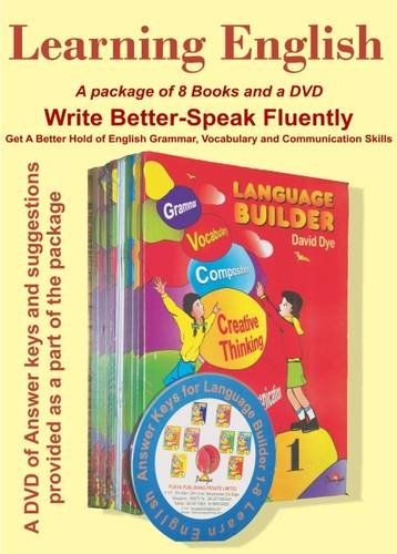 9789381774014: Learning English with Language Builder (with DVD) (Set of 8 Books) (Learning English - Through Language Builder 1-8)
