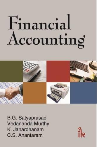 Financial Accounting: Satyaprasad B.G.