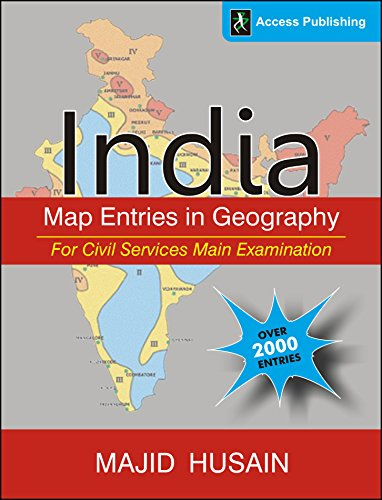 India: Map Entries in Geography for Civil: HUSAIN, MAJID