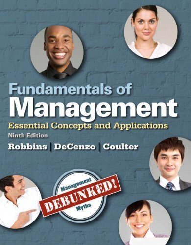 9789383525355: Fundamentals of Management: Essential Concepts and Applications (9th Edition) 9th (ninth) by Robbins, Stephen P, De Cenzo, David A., Coulter, Mary (2014) Paperback