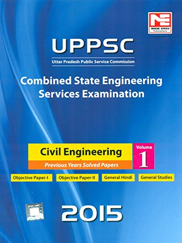 9789383643660: Uppsc Combined State Engineering Services Examination Civil Engineering Volume-1 2015