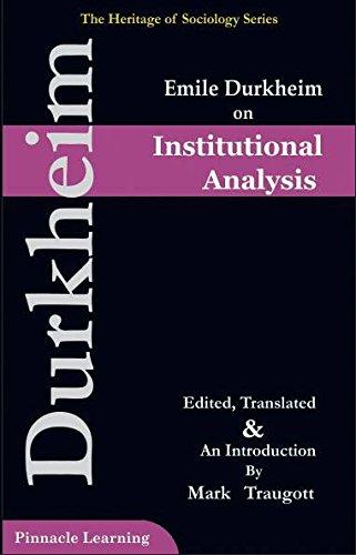 9789383848034: Emile Durkheim On Institutional Analysis
