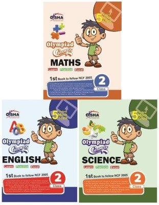 9789384905972: Olympiad Champs Science, Mathematics, English Class 2 with 15 Online Mock Tests (set of 3 books)