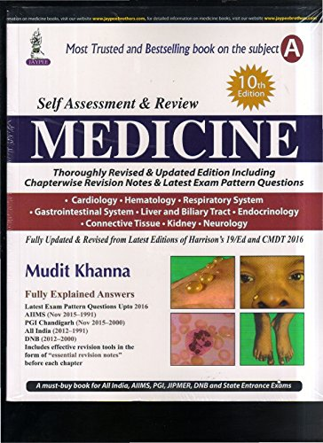 9789385999598: Self Assessment & review MEDICINE 10ed Part ( A +B ) 2016