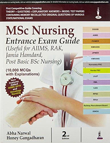 MSC NURSING ENTRANCE EXAM GUIDE (USEFUL FOR: NARWAL ABHA