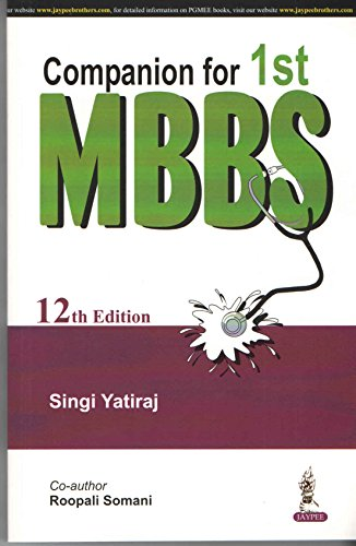 9789386107442: (OLD) COMPANION FOR 1ST MBBS