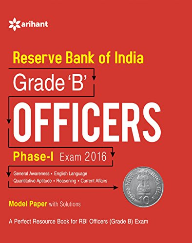 9789386179081: Reserve Bank Of India Grade B Officers Phase 1 Exam 2016 Model Paper With Solutions