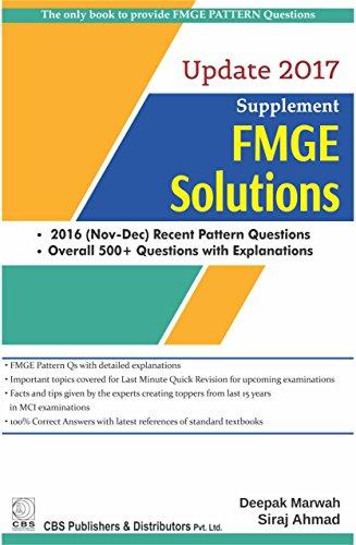 Supplement Fmge Solutions Update 2017 (Pb 2017): Marwah D.
