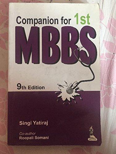 9789386322838: Companion for 1st MBBS, 13th ed.