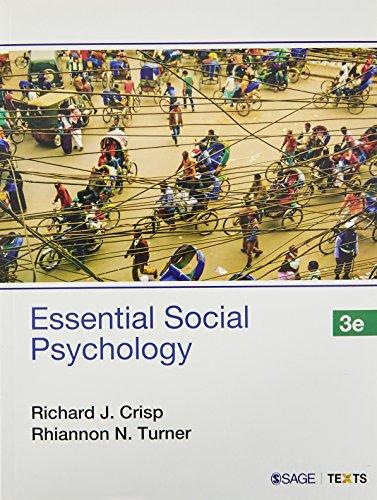 Essential Social Psychology, 3rd Edn: Crisp