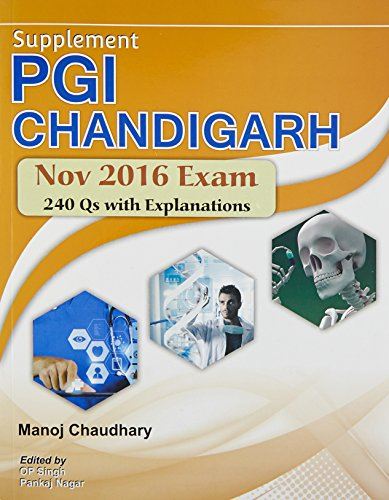 Supplement Pgi Chandigarh Nov 2016 Exam (Pb: Chaudhary M