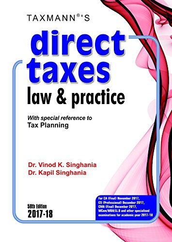 9789386482860: Direct Taxes Law & Practice -With special reference to Tax Planning