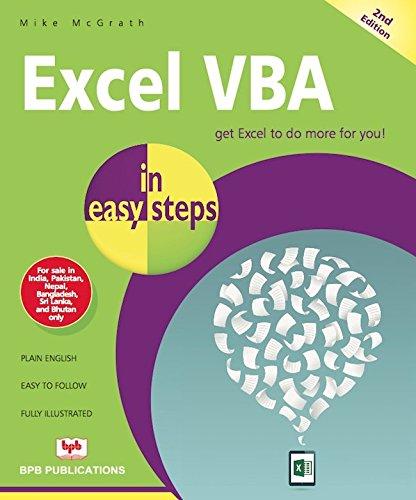 9789386551375: Excel VBA In Easy Steps
